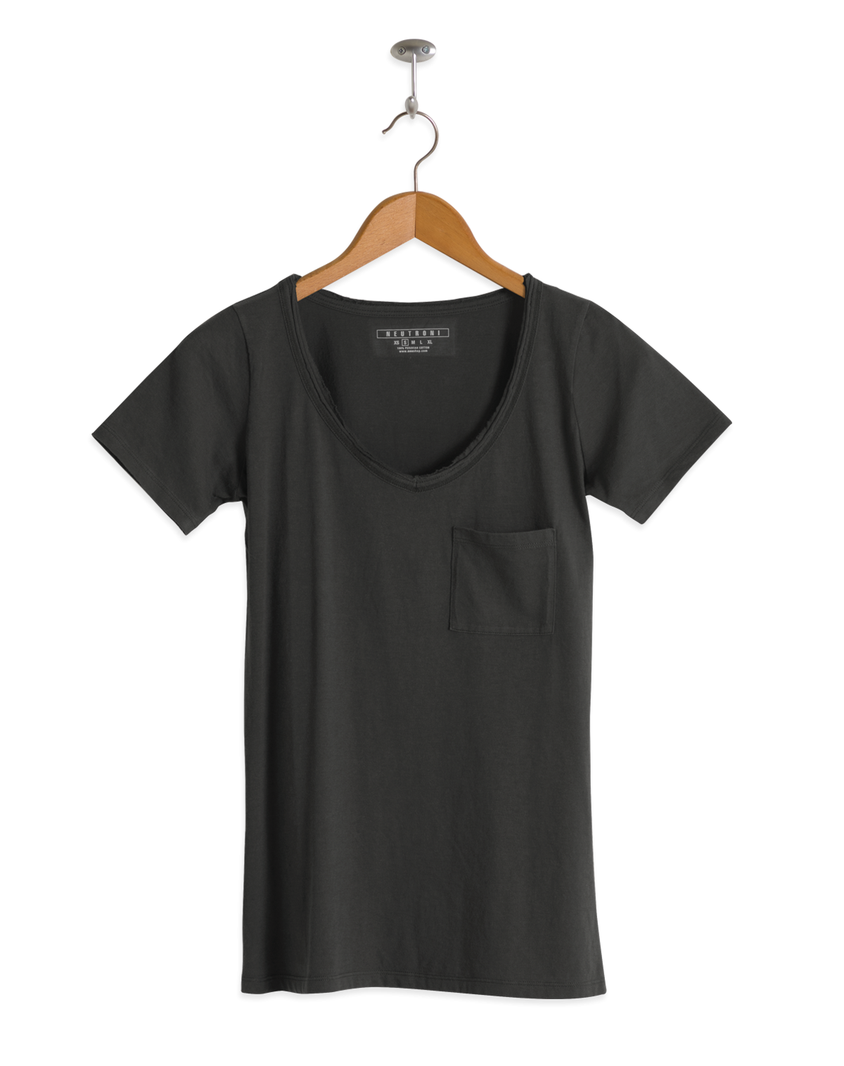 Neutroni productos mujer partes de arriba neutros for Thick v neck t shirts